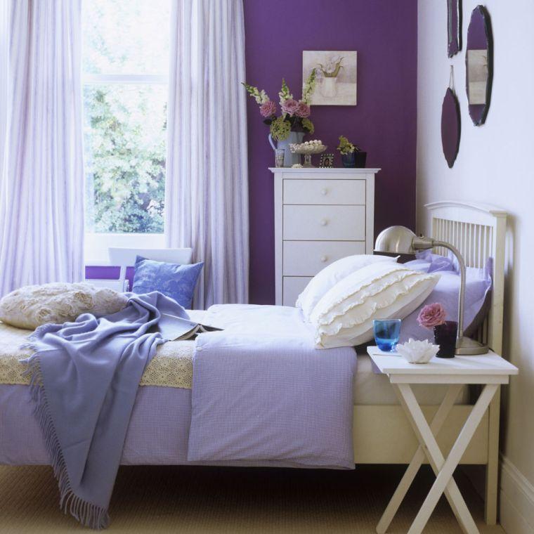 couleur-pour-chambre-a-coucher-froid-peinture-violet - Blog ...