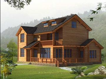 view rumah kayu minimalis 2 lantai background - desain