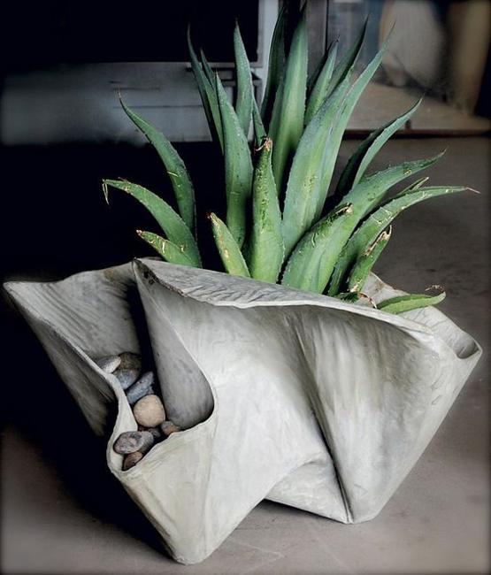 Cara Membuat Pot Bunga Dari Handuk Bekas