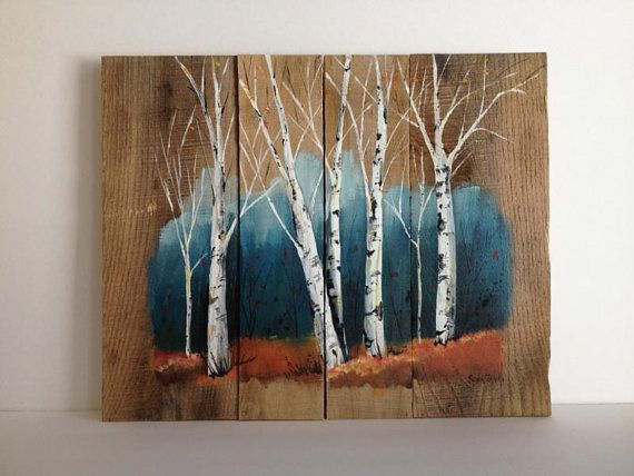cara membuat hiasan dinding dari kayu lukisan