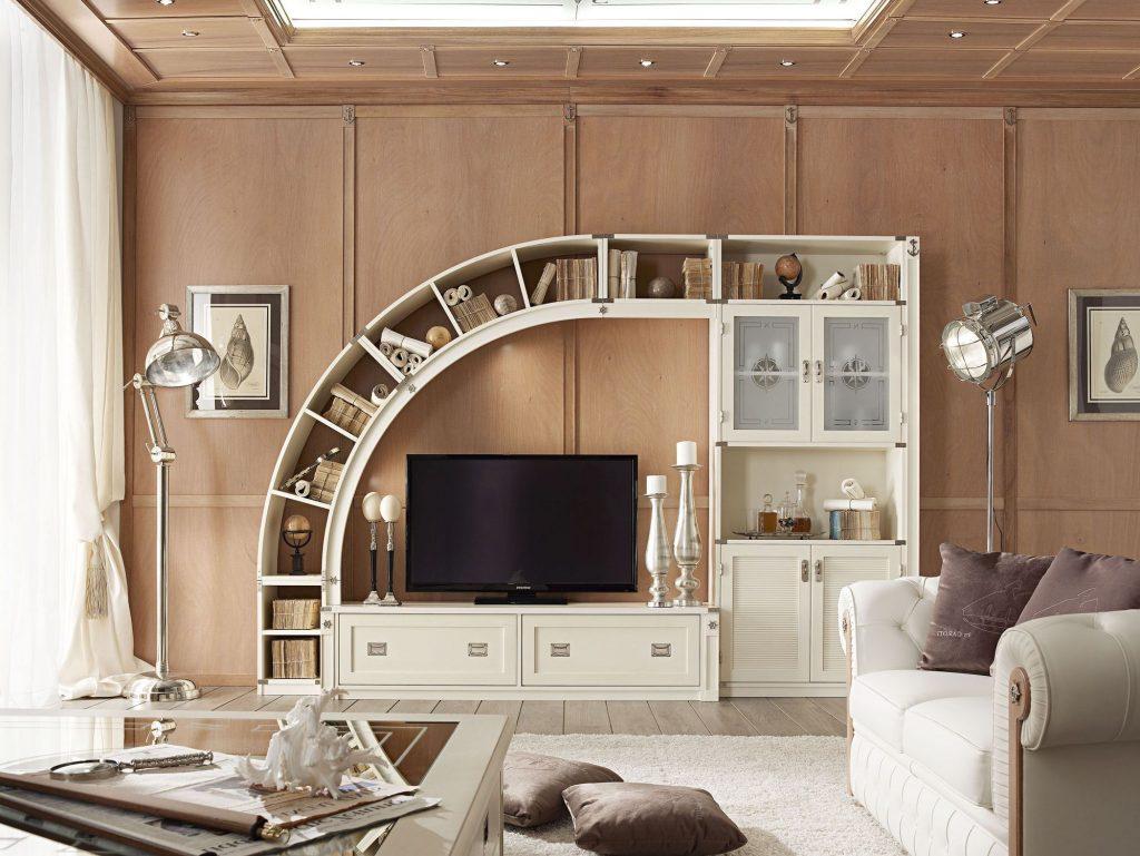 dekorasi ruang tv rak unik