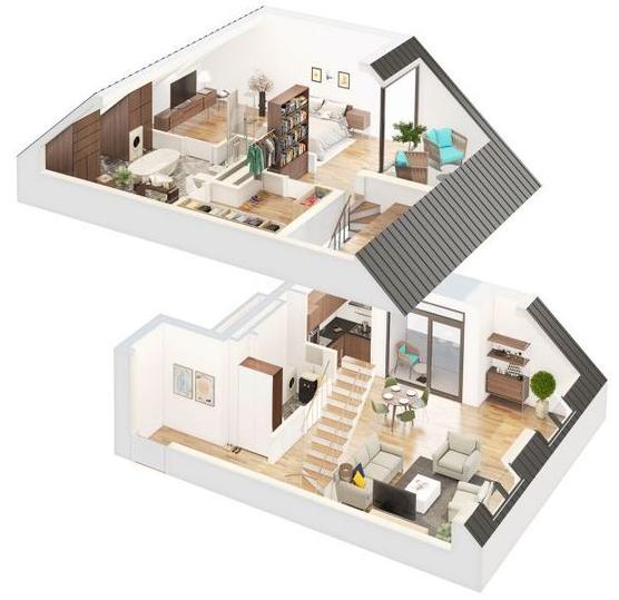 Denah Rumah Minimalis 2 Lantai Modern Terbaru Blog Qhomemart