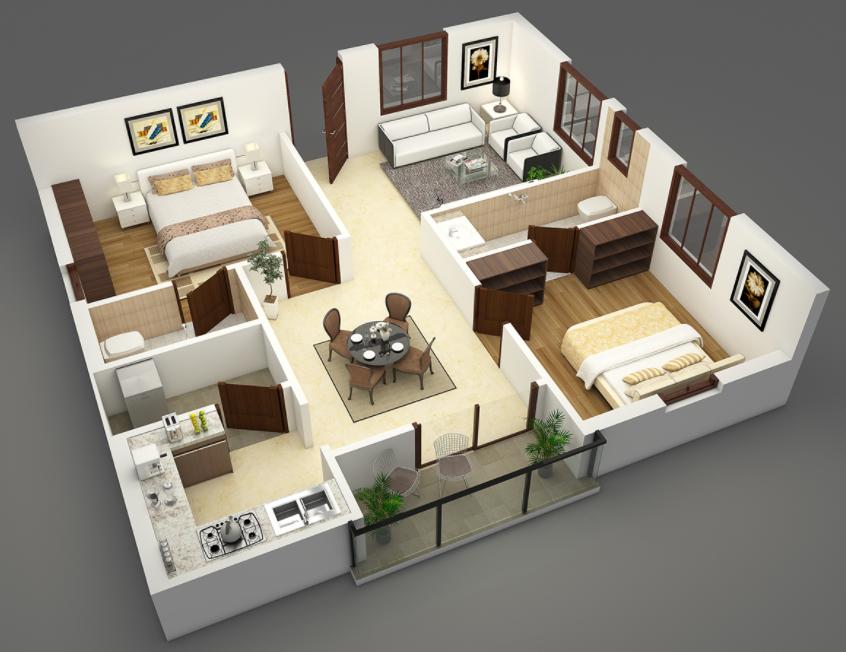 Denah Rumah Minimalis Modern Terbaru   Blog QHOMEMART