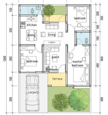 denah rumah minimalis terbaik