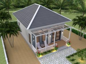 model rumah minimalis type 45 terbaru yang elegan - blog