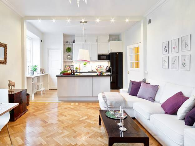 ruang tengah dengan dapur