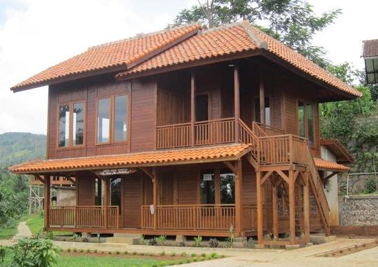 kombinasi warna cat rumah kayu