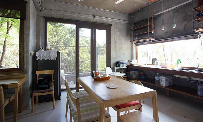 Model meja dapur simpel dari kayu