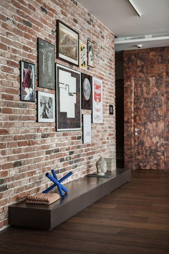 Inspirasi dinding batu bata