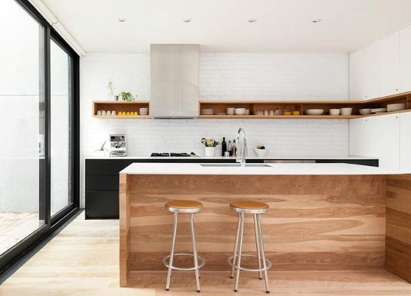 kitchen set sederhana dengan minibar