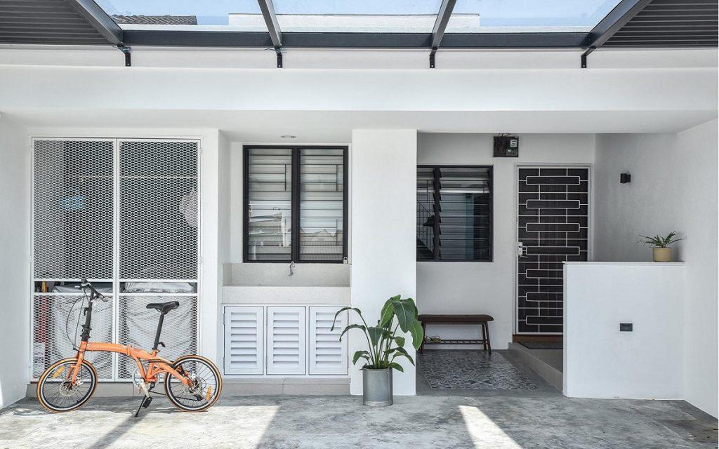desain teras pakai lantai beton