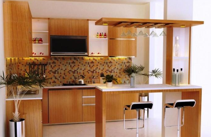 Inspirasi Kitchen Set Mini Bar Dapur Kecil   Blog QHOMEMART