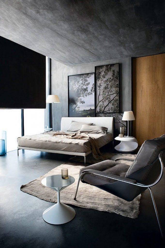 Ruang tamu dinding granite