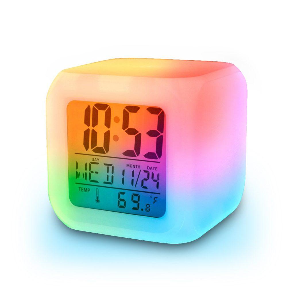 Jam dinding digital model pelangi
